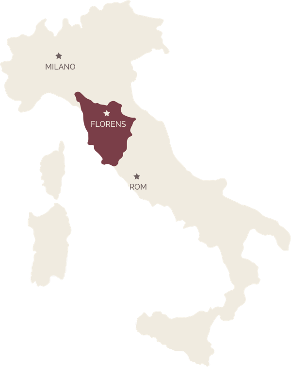 Tema Toscana - Map illustration Toscana